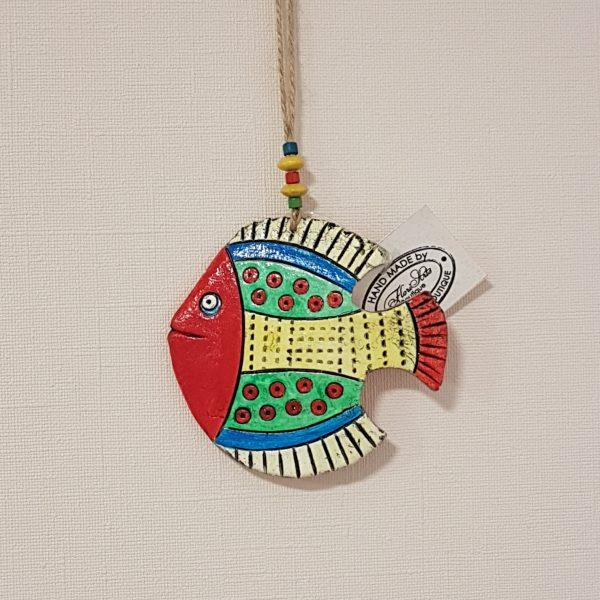 Керамична фигура - риба, мексикански мотиви