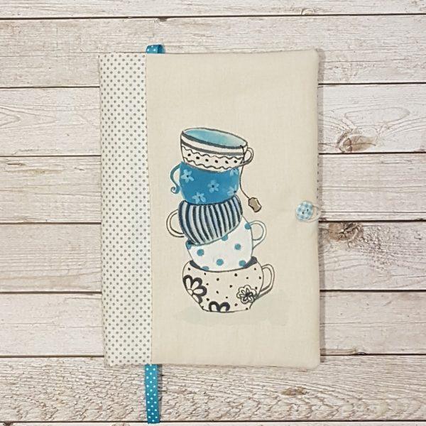 """Подвързия за книга """"Шарените чаши"""", сини точки"""