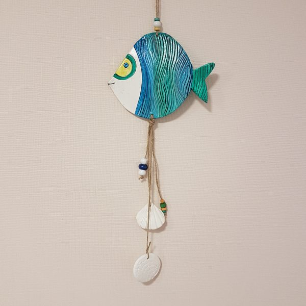 Керамична фигура - Риба Дори, тюркоаз