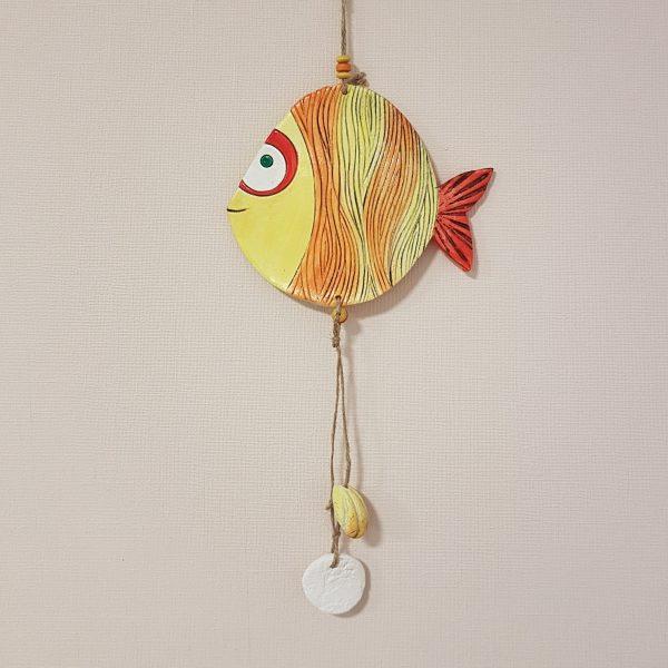 """Керамична фигура """"Риба Дори в жълто и оранжево"""""""