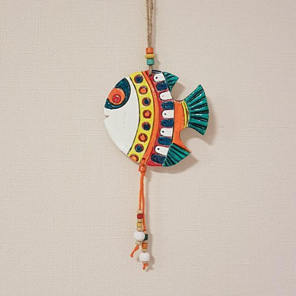 Керамична фигура - риба, африкански мотиви