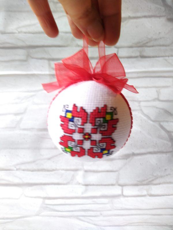 Коледна топка с шевица