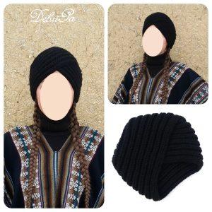 """Плетена шапка ,,Черна чалма"""""""