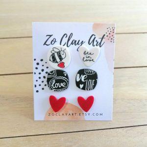 Комплект обеци на тема любов