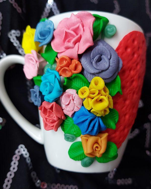 Чаша с декорация от полимерна глина