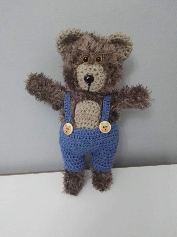 Плетена детска играчка Мече
