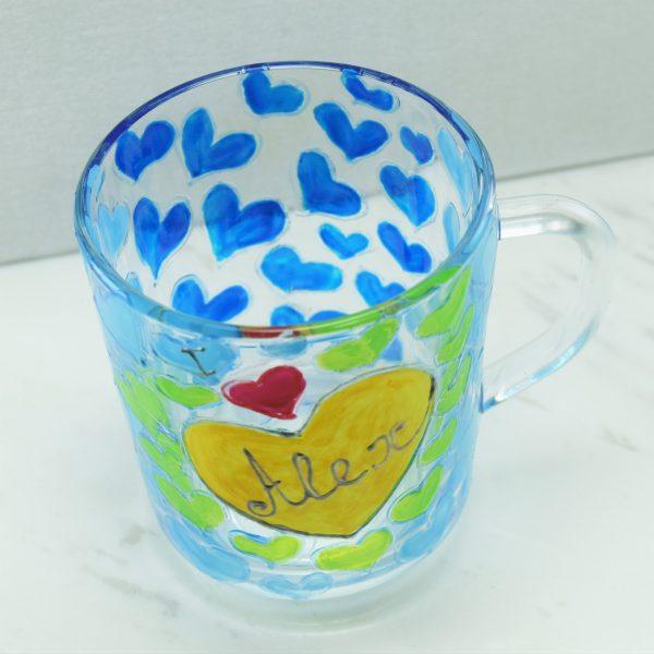 Ръчно рисувана персонализирана чаша за кафе, чай и др.
