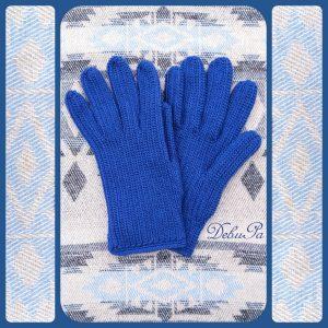 """Плетени ръкавици ,,Зимни - мъжки, атлантическо сини"""""""