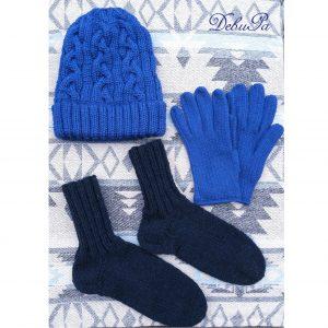 """Вълнен плетен комплект - шапка, ръкавици и чорапи ,,Уютна зима"""""""