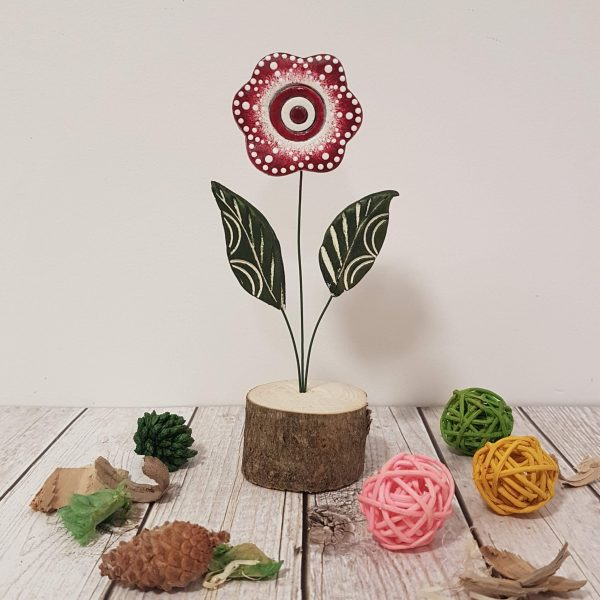 Керамично цвете с щипка 032