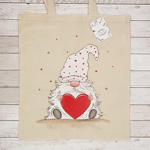 """Текстилна торбичка """"Джудже със сърце"""""""