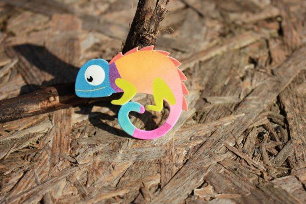 Хамелеон брошка за цветно настроение