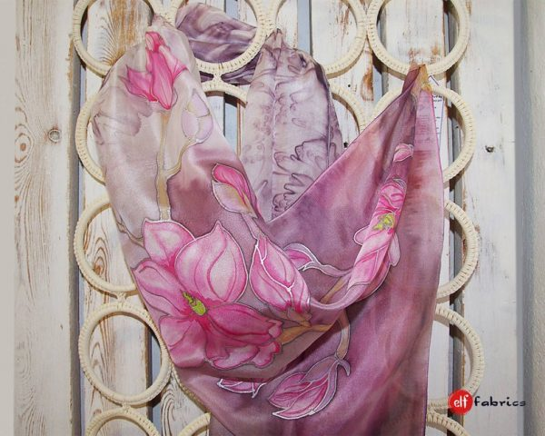"""Ръчно рисувани шалове """"Пролетна Магия"""" - по поръчка"""