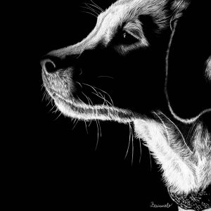 """Картина/Рисунка с моливи Принтове - """"Щастие"""""""