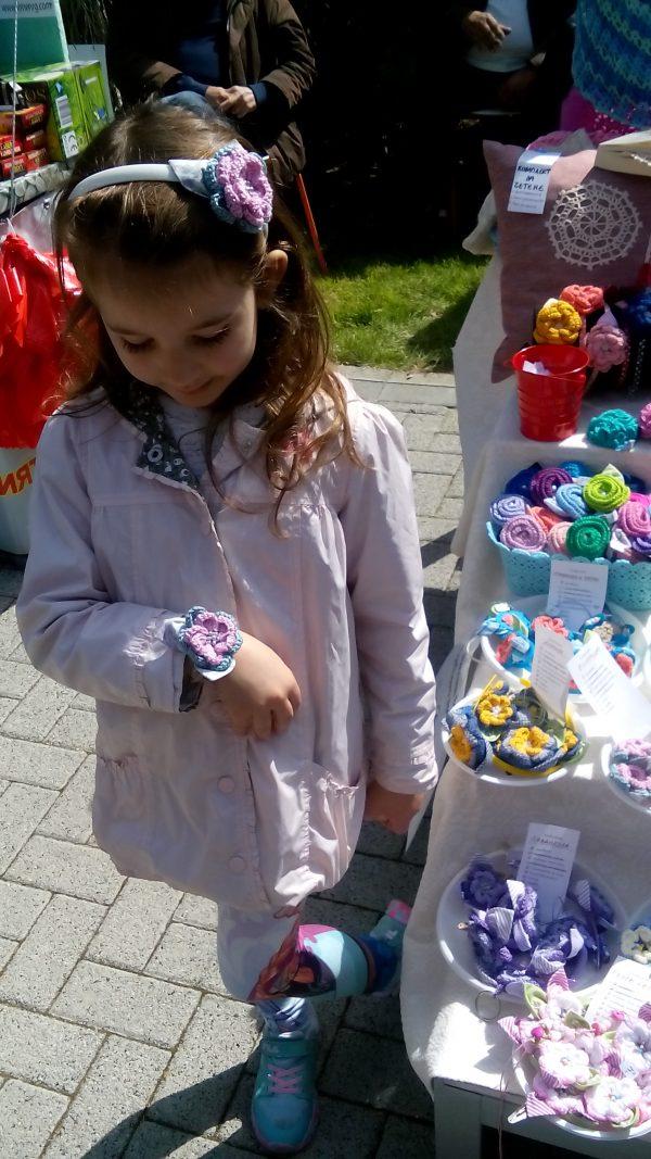 "Детски дизайнерски бижута в розово и синьо ""Розови облачета"""