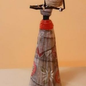 """Ръчно изработена """"Африканска кукла"""""""