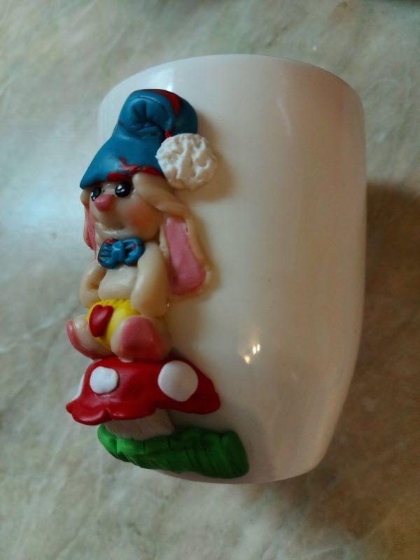 Чаша с декорация от полимерна глина.