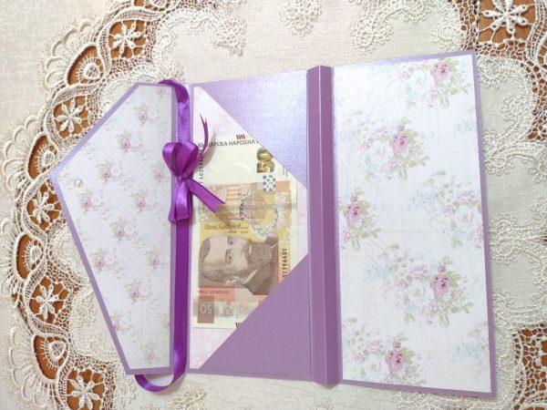 Мини чантичка покана,картичка или плик за пари