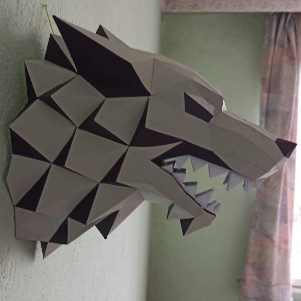 Хартиен вълк от Game of thrones