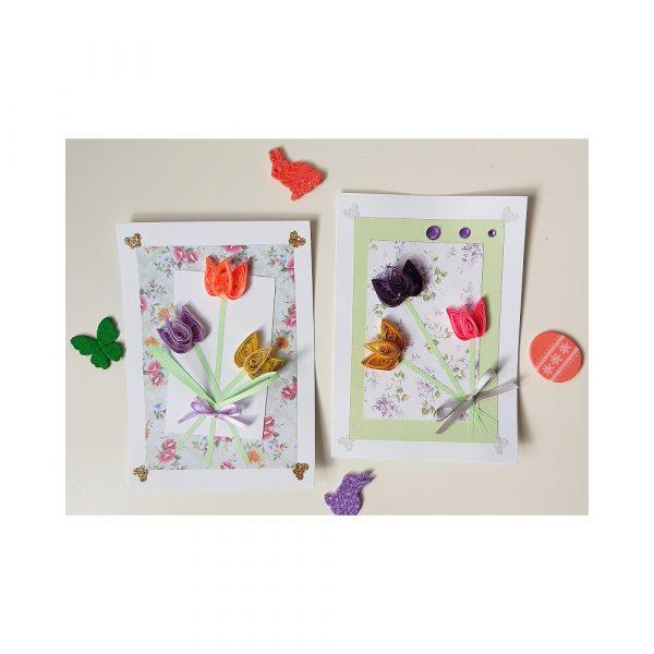 """Картичка """"Лалета"""" за Цветница, Великден, имен ден, рожден ден"""