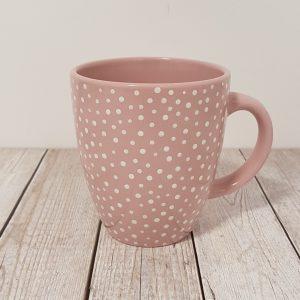 Керамична чаша на бели точки