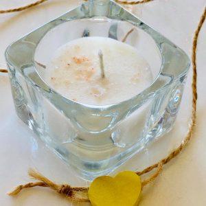 Комплект чаени свещи и свещник