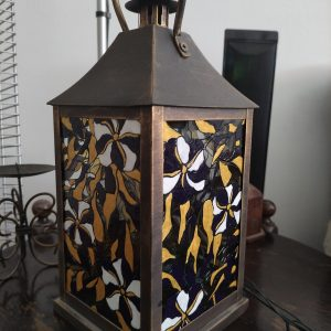 """""""Цветна градина"""" - фенер за свещ ръчно рисуван"""