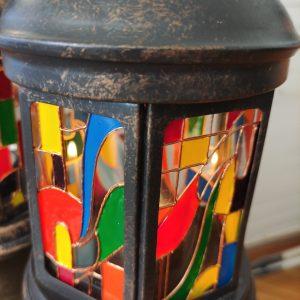"""""""Арт Деко """"- фенер за свещи ръчно рисуван"""