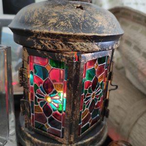 """Средновековно"" - ръчно рисуван фенер за свещ"