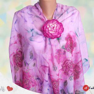 Ръчно рисувани шалове с рози - наличен