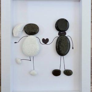 Подарък за сватба от морски камъчета