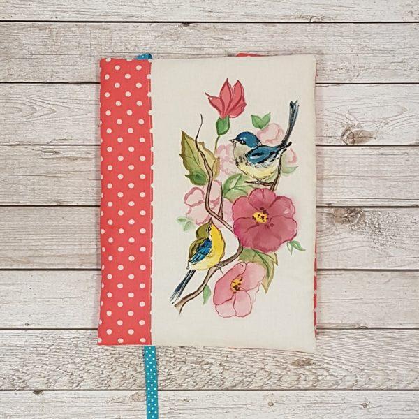 """Подвързия за книга """"Птички в цветята"""""""