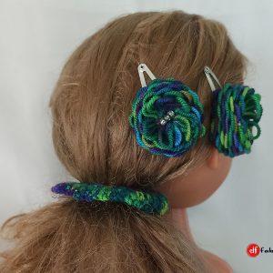 """Ръчно плетени аксесоари за коса """"Морско дъно"""""""