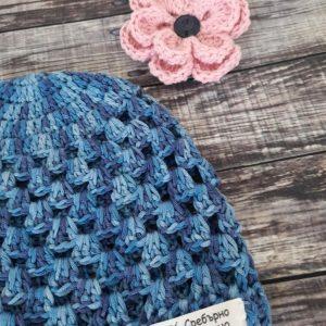 Бебешка памучна шапка Размери 42, 44 и 46