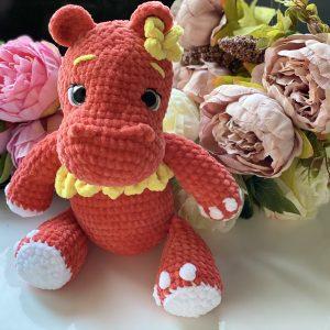 Плюшена играчка хипопотам