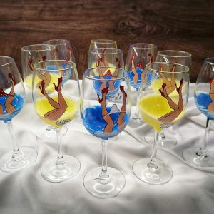 Рисувани чаши за моминско парти