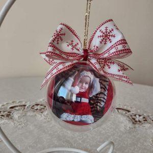 Коледна топка със снимка
