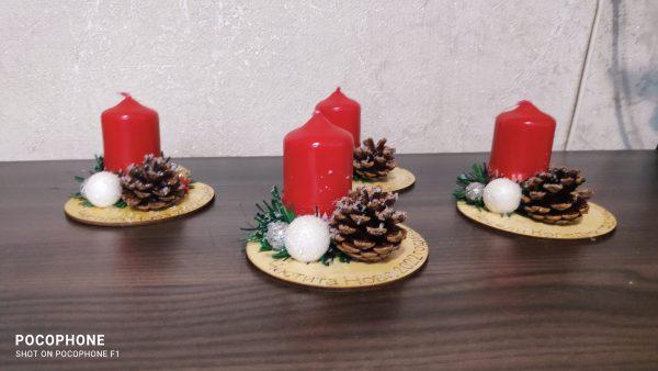 Коледен свещник малък